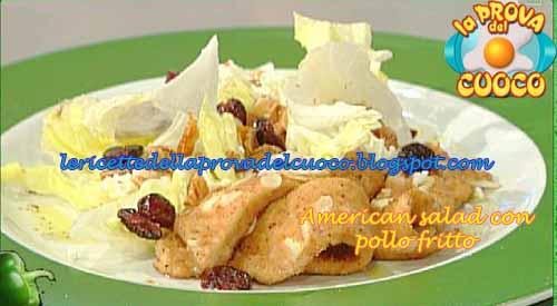 American salad con pollo fritto ricetta Fava da La Prova del Cuoco