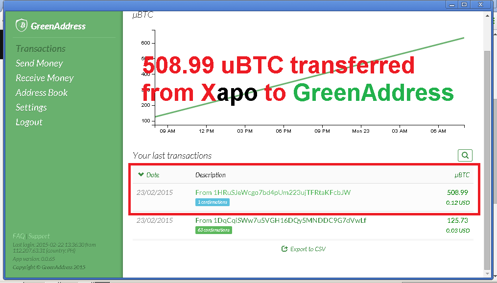 Xapo bitcoin wallet free 50 bits promotions off site giveaways xapo greenaddress2btransferg ccuart Image collections