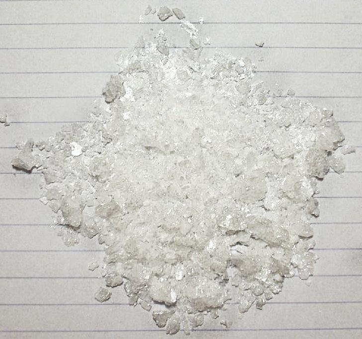 Aspecto natural del ácido acetilsalicílico