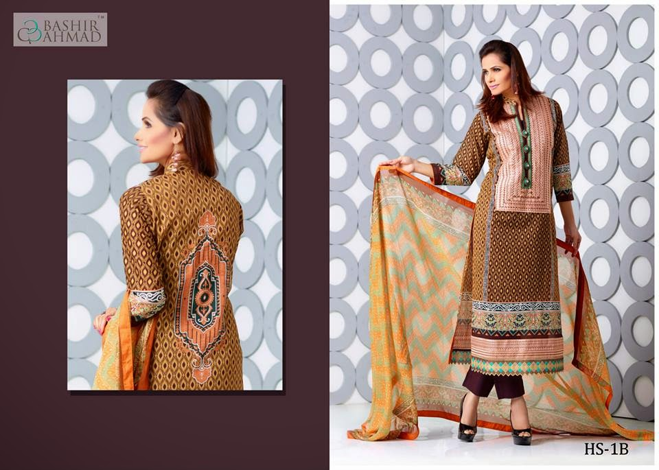 Bashir ahmed lawn new collection 2015