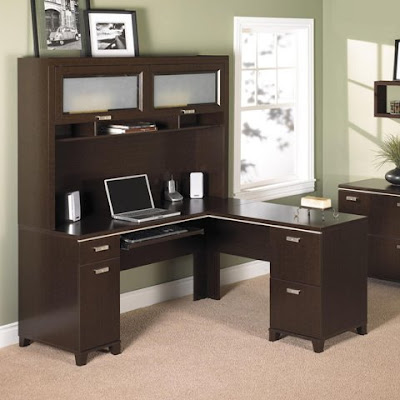 Bush Tuxedo Computer Desk with Optional Hutch Office Furniture