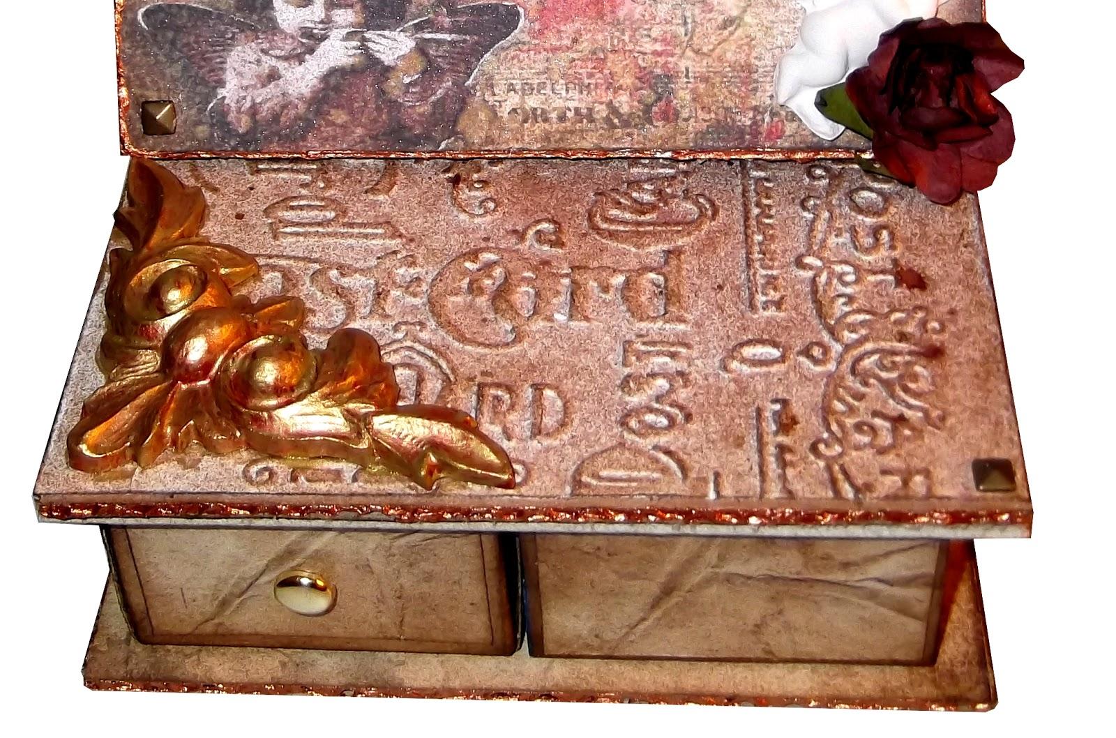Boite Bijoux Retro : Sosso scrap boite ? bijoux vintage