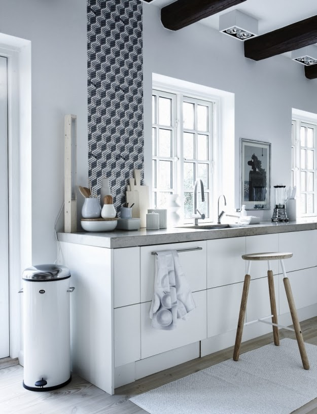 Decorar el frente de una cocina estudio lota - Papel pintado para cocina ...