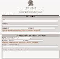 TRE-CE Site recebe denúncia de propagandas eleitorais irregulares