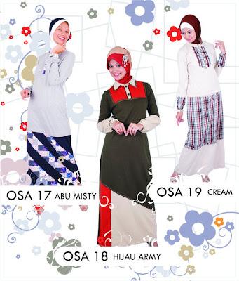 Katalog Fashion Osmoes Pakaian Wanita Muslim Abu Misty Cream Hijau Army
