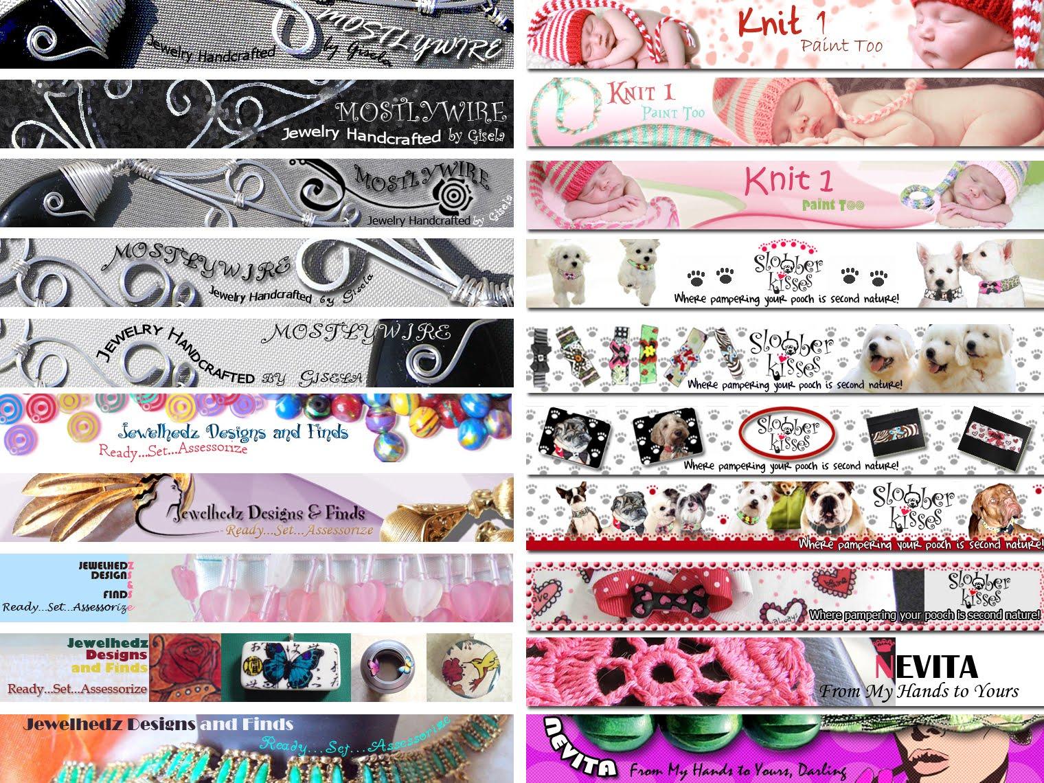 Design banner for etsy - Custom Made Etsy Shop Banners Graphic Design