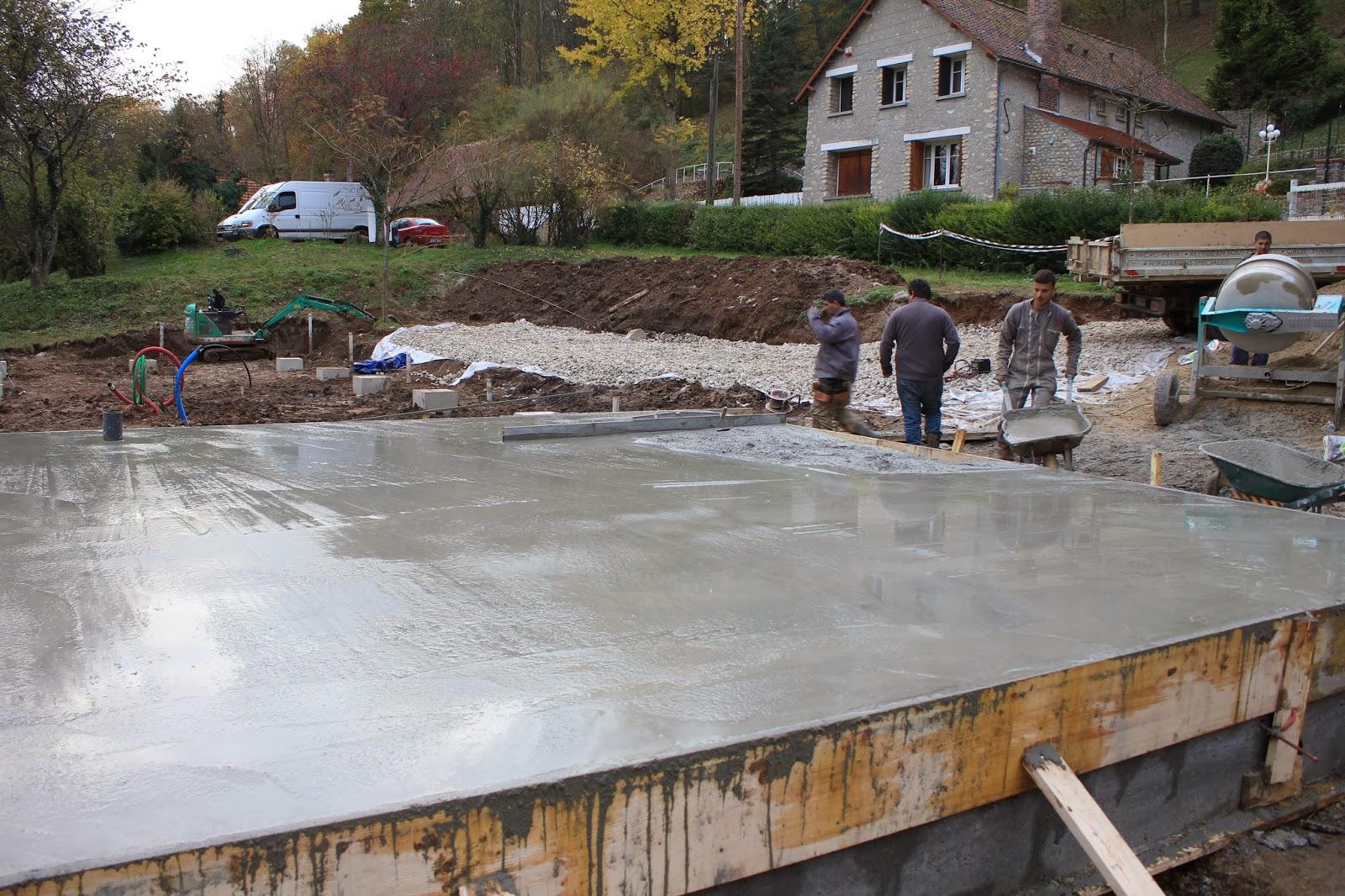 Notre maison sans chauffage fondations finies et a encha ne - Mur de fondation maison ...