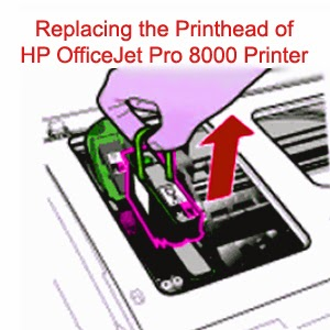 Replacing the Printhead of HP OfficeJet Pro 8000 Printer
