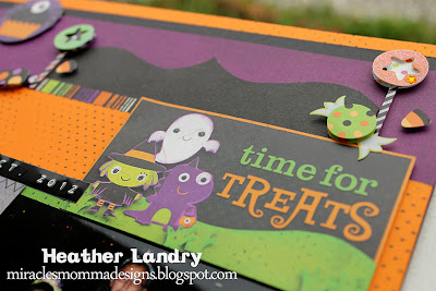 Bo Bunny Halloween Layout_Candy Foam Stickers