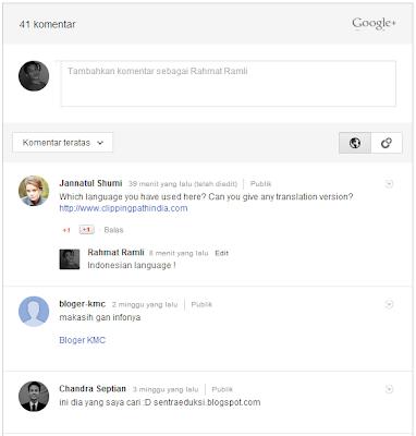integrasi komentar google plus untuk blogger