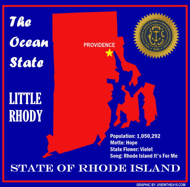 Rhode Island state map jiveinthe415.com