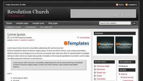 Blogspot, template