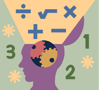 Emotions + Math = Insight  - brain head human numbers