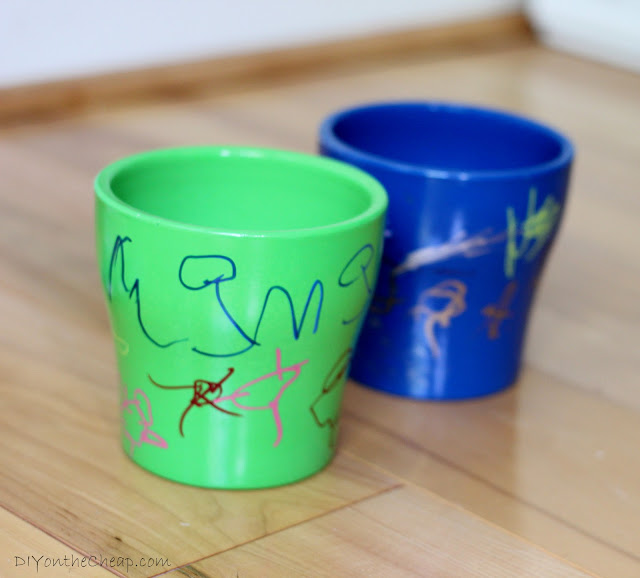 DIY Potted Herb Kit + Free Printable: Have your kids decorate a pot, add supplies and a printable, then give as a gift!