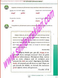 6.Sinif  Turkce Doku Yayinlari Ogrenci Calisma Kitabi Sayfa 169