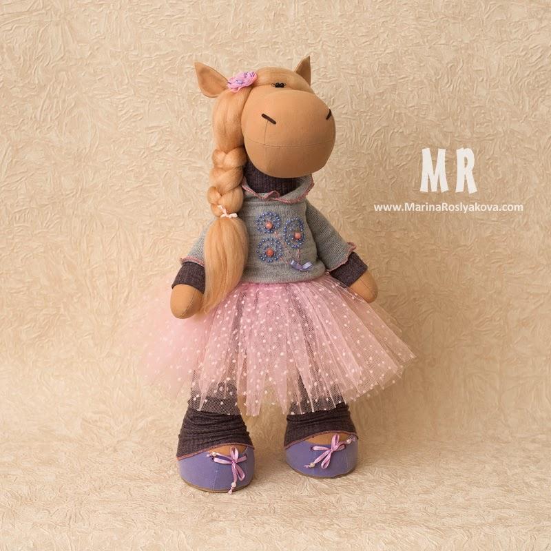 Лошдка Маруся Horse Marusya Игрушки ручной работы от Марины Росляковой Handmade toys Marina Roslyakova