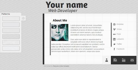 Squares vCard Blogger Theme
