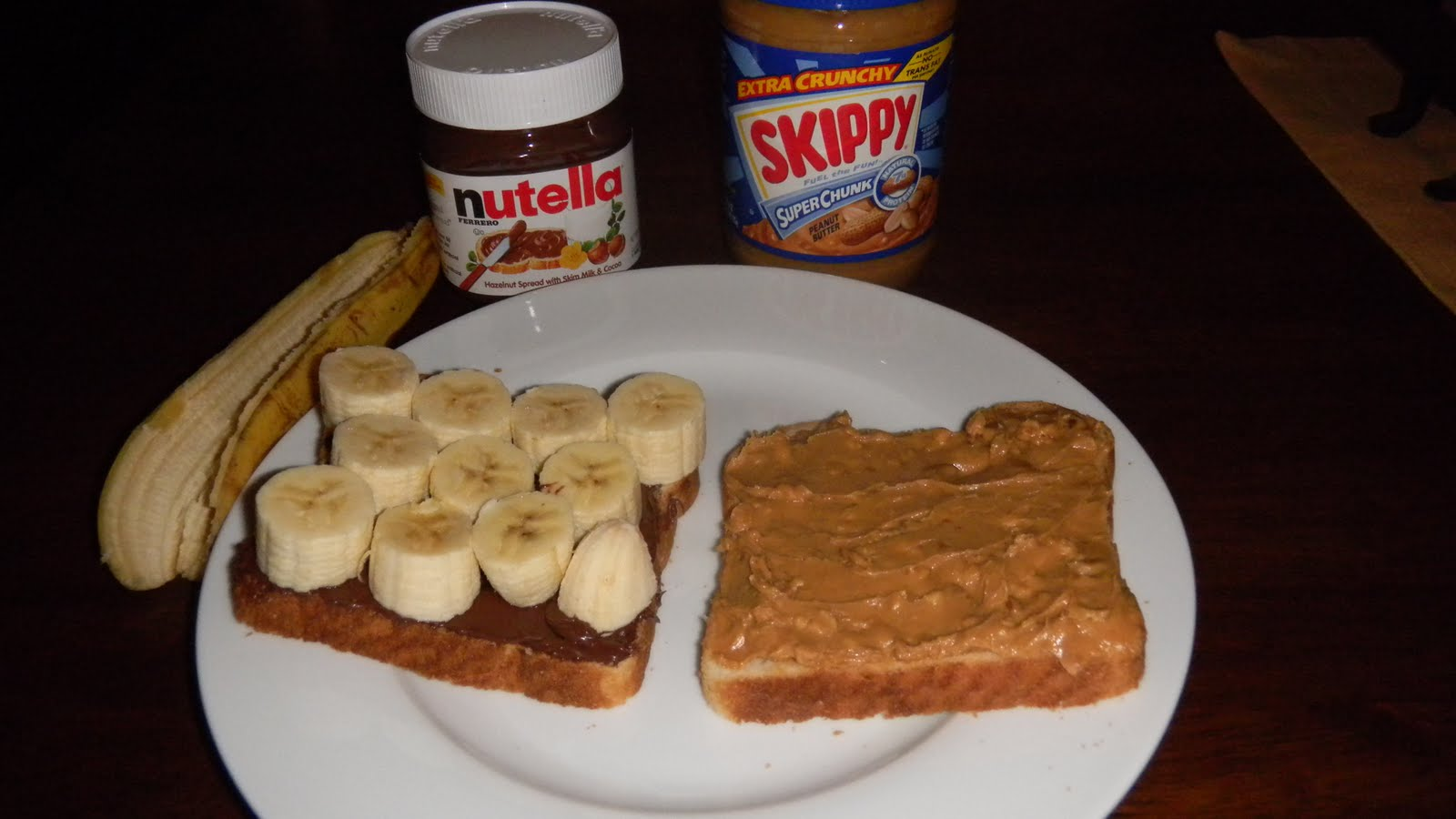 ... of an Omnivore: The Peanut Butter, Nutella, and Banana Sandwich