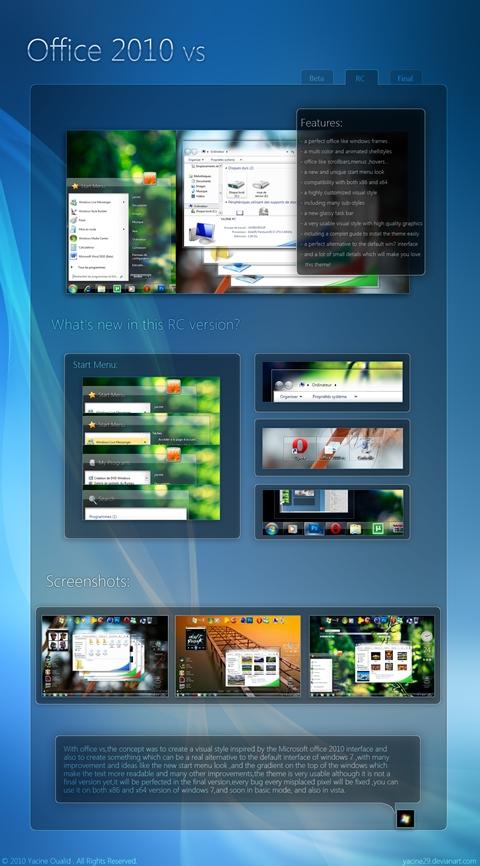 Office 2010 vs RC Theme