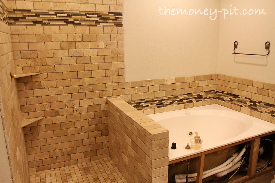 Master Bathroom Week 8 Tile Sealing And Grout Color Test