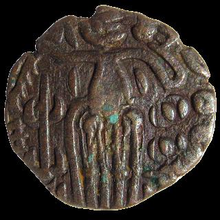 [CHO004] Rajaraja Chola Coin - Copper Massa