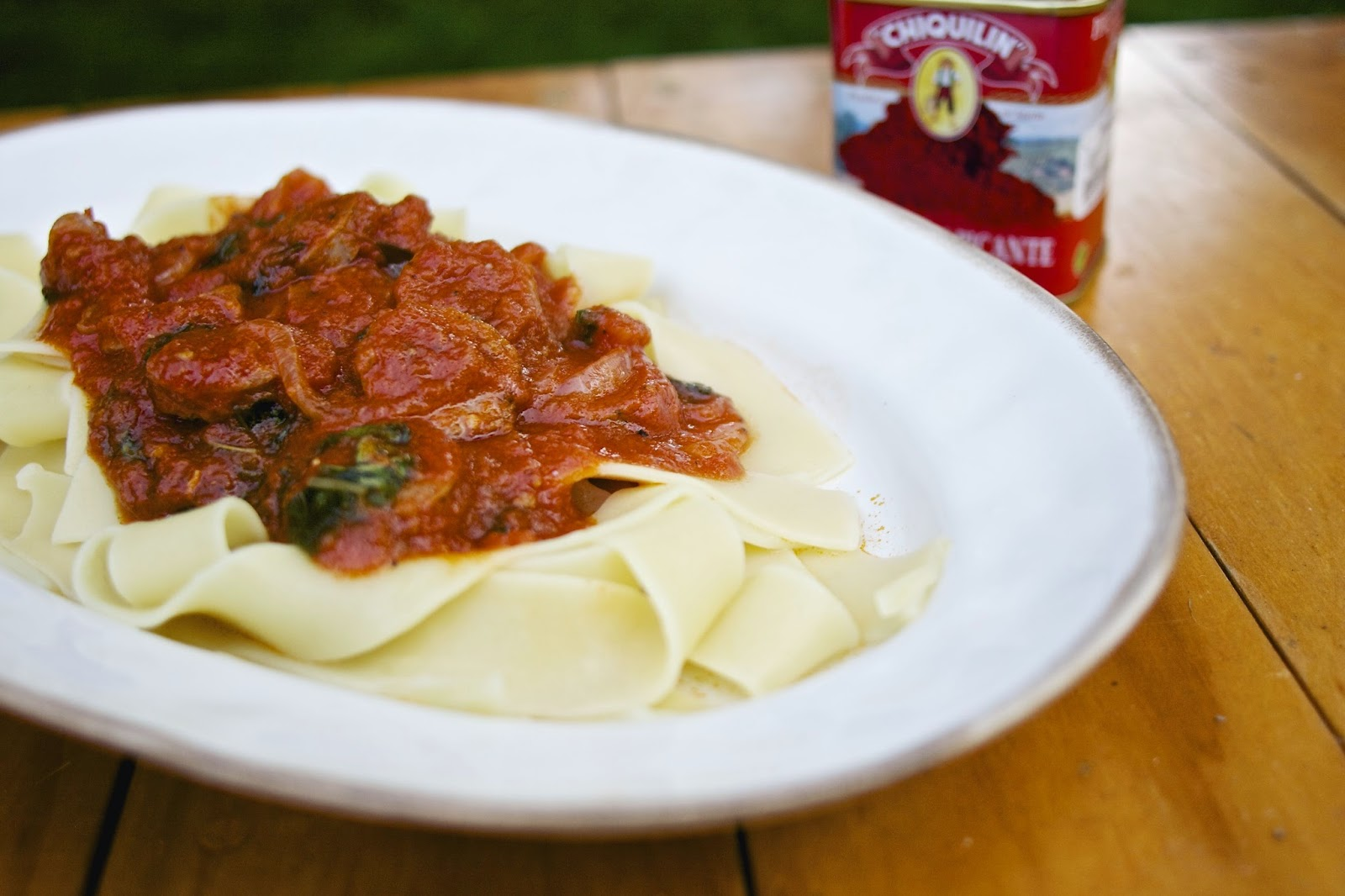 Andouille Sausage & Pappardelle: simplelivingeating.com
