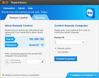 Aplikasi Teamviewer di Ubuntu