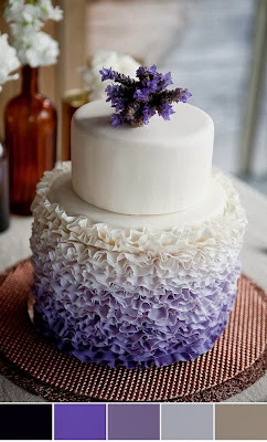 Лилава сватбена торта