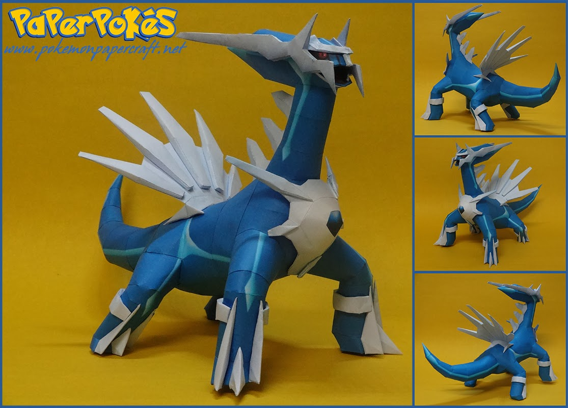 Pokemon Dialga Paper Model