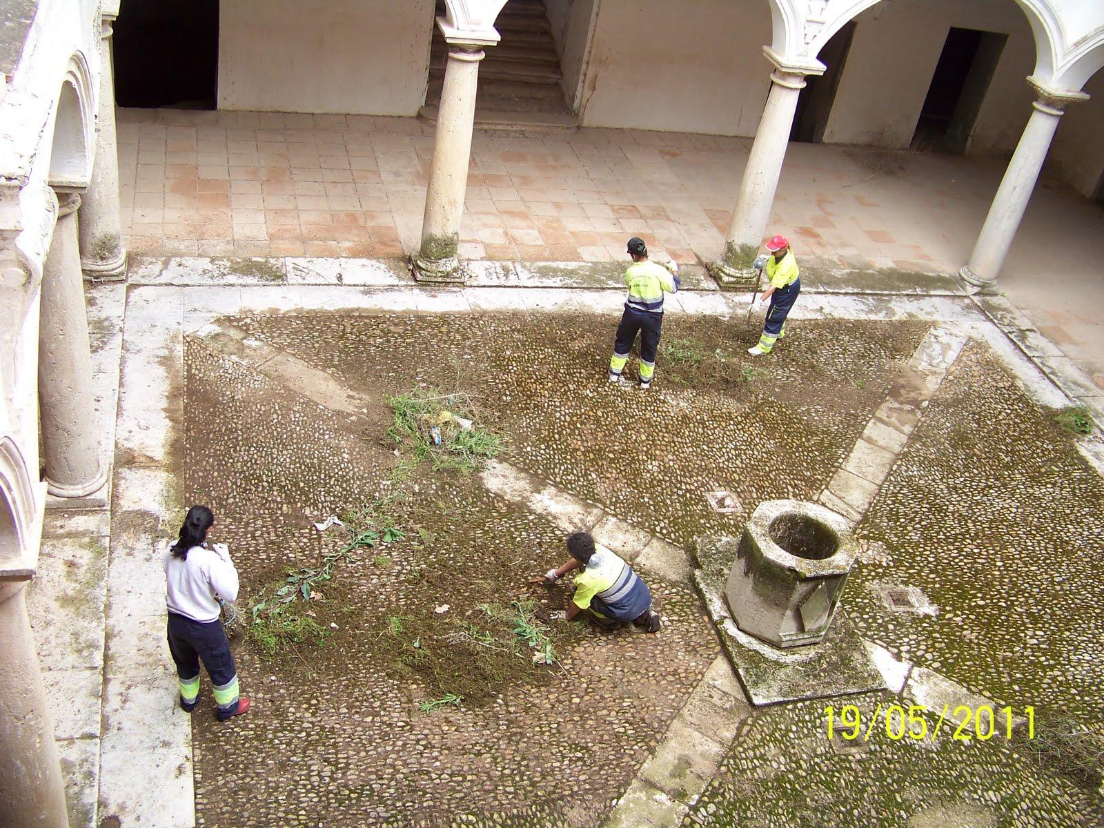 Todo tembleque limpieza del patio de la casa de las torres - Limpieza en casa ...