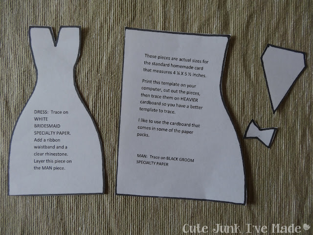 Homemade Wedding Card - stencil pieces (4)