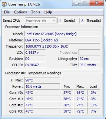 Core Temp 1.0 RC6