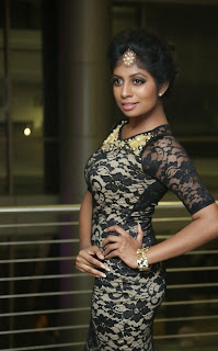 Monika Reddy in Super Spicy Designer Black Short Dress at Pink Affair Fashion Show