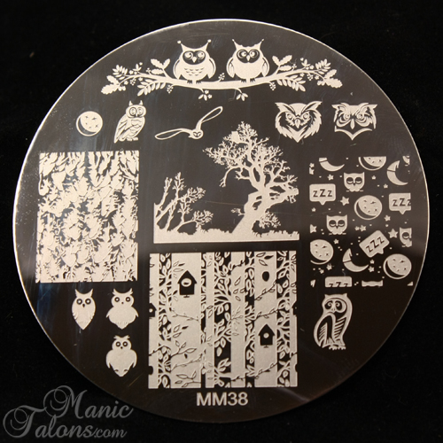 Messy Mansion MM38, Messy Mansion Owl Plate