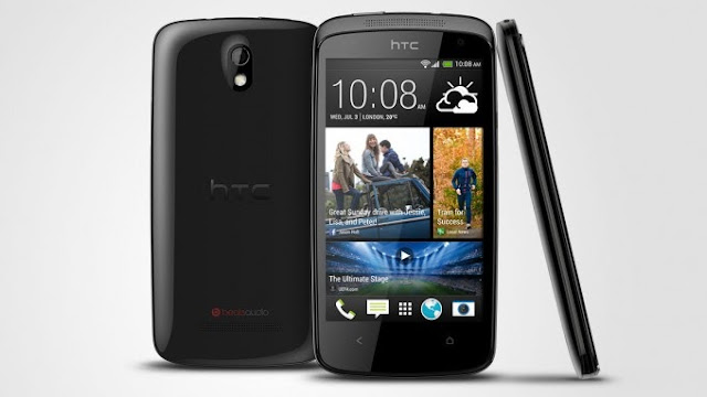 HTC Desire 500 ponsel Android mid-range 4,3-inci, quad-core CPU, dan kamera 8MP