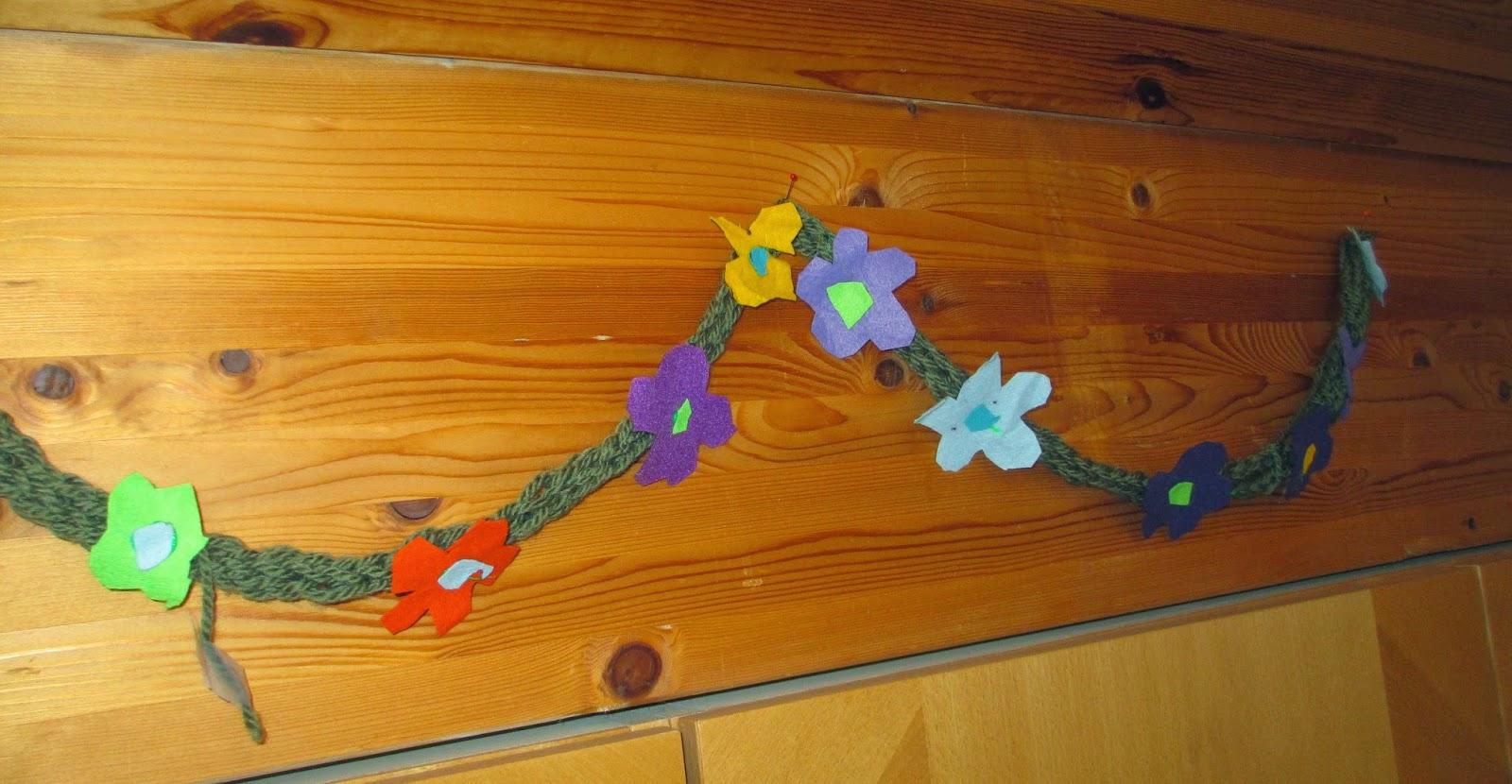 Sommer oder Frühlingsdeko im Kindergarten