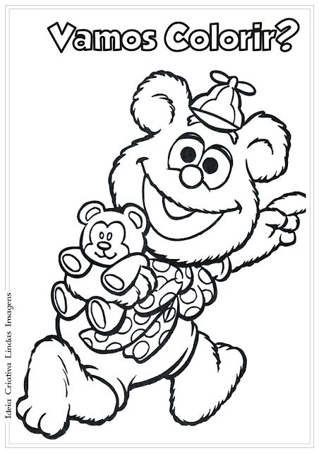 Os Muppets Urso Fozzie baby desenho para colorir