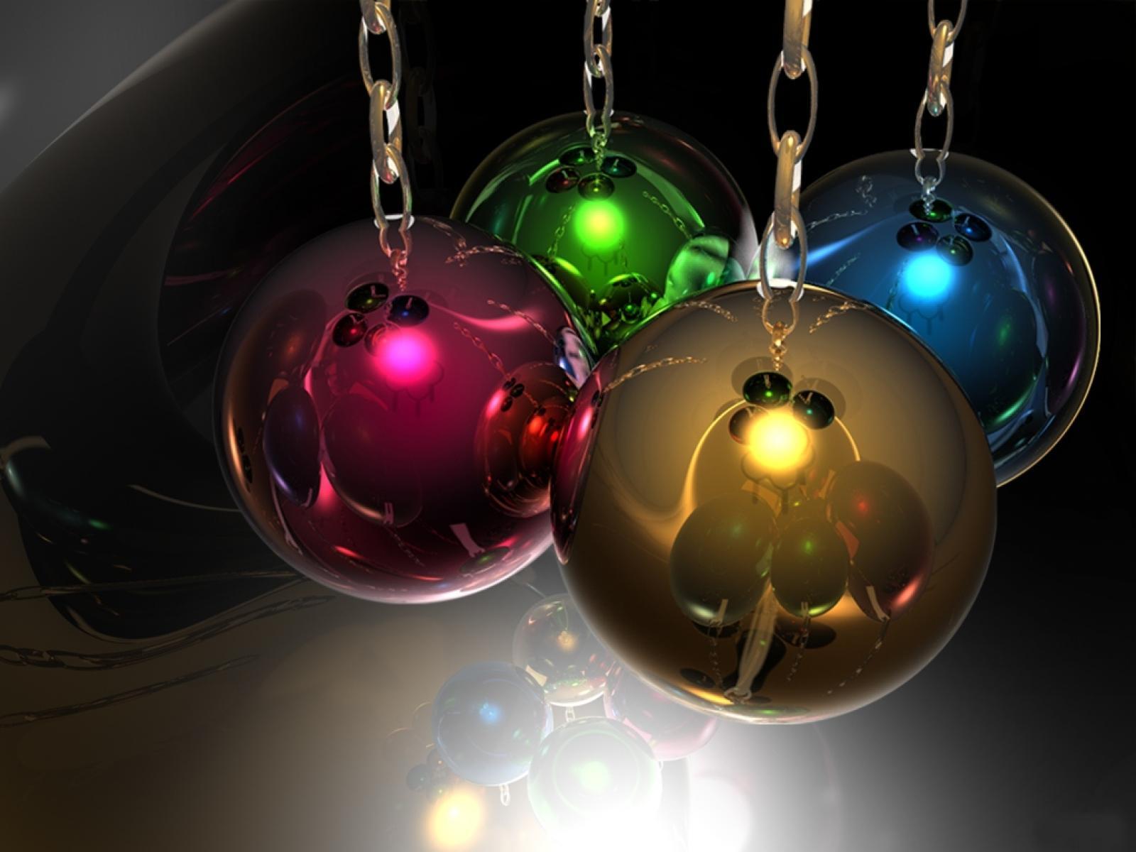 Wallpapernarium bolas de navidad de colores y brillantes - Bolas de navidad ...