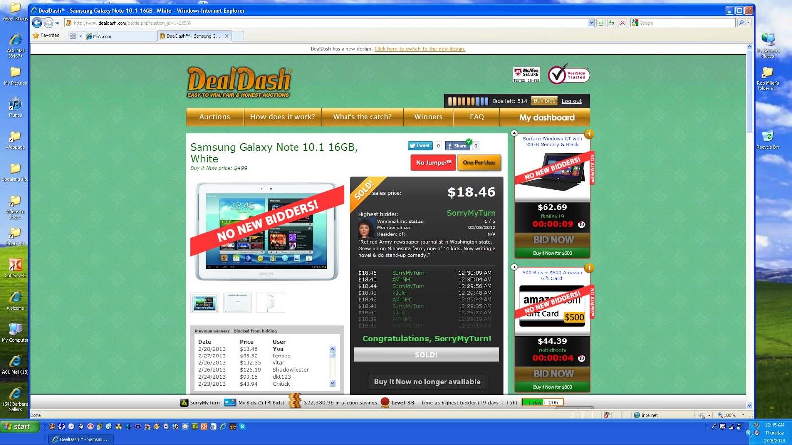 DealDash Shopping Learn New Winning Strategies on