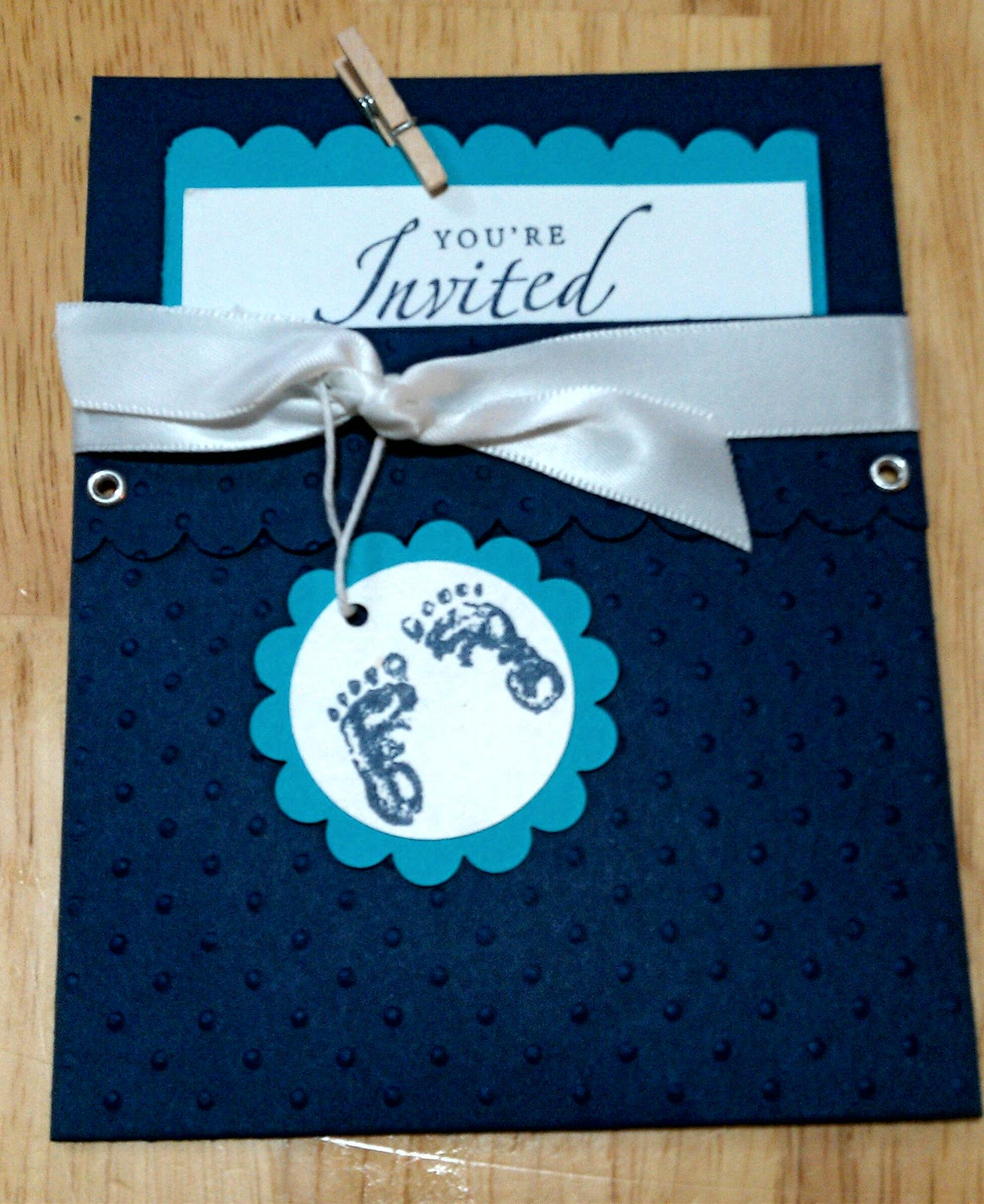 Country girl stampin baby shower invitations not all the stamps used were stampin up but still very cute nothing like little baby feet i just love those baby feet so what do you think filmwisefo