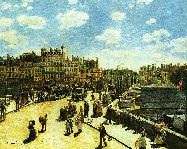 Пьер Огюст Ренуар. Новый мост. 1872.