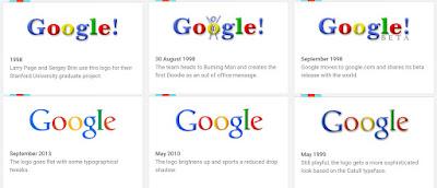 RIwayat Logo Google 1998 - 2015