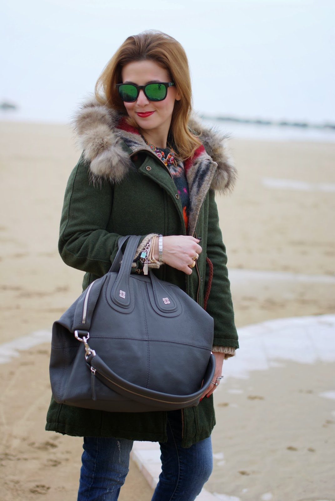 Gamp parka,  loden parka, Givenchy Nightingale bag, Fashion and Cookies, fashion blogger