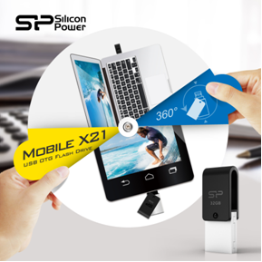 SP USB 2.0 OTG Flash Drive - Mobile X21