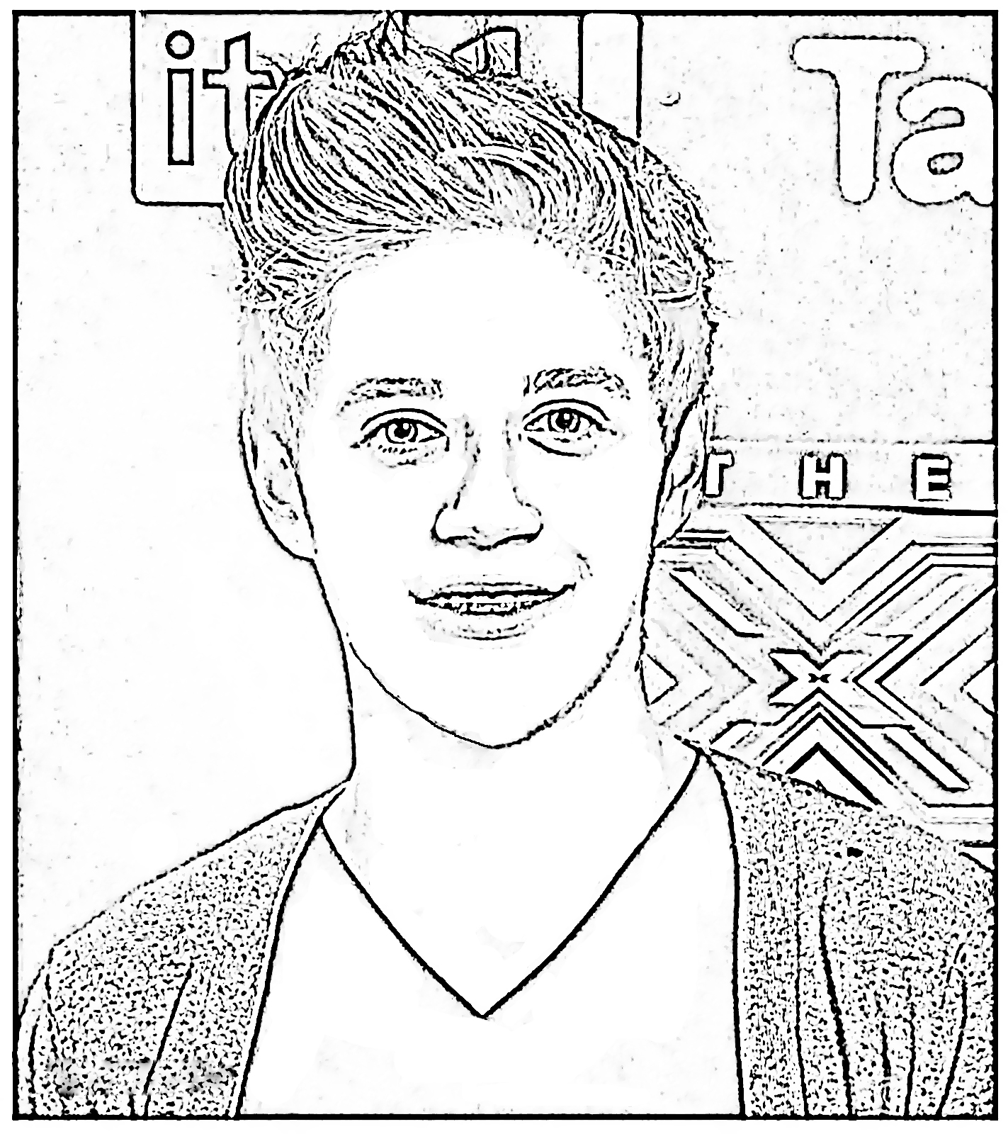 One Direction Coloring Pages - Niall