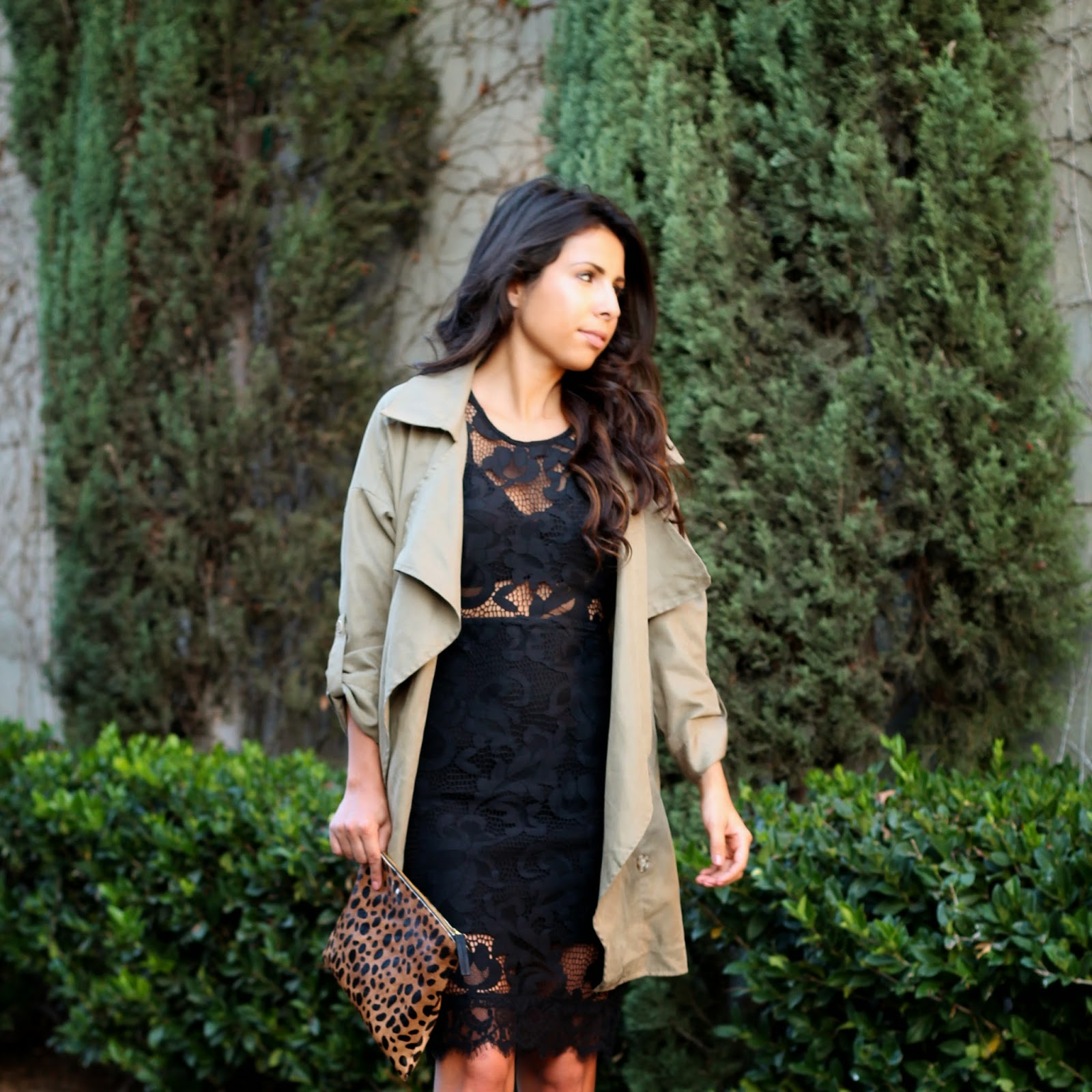 lace black dress, holiday style, NBD on REVOLVE, azaleasf jacket
