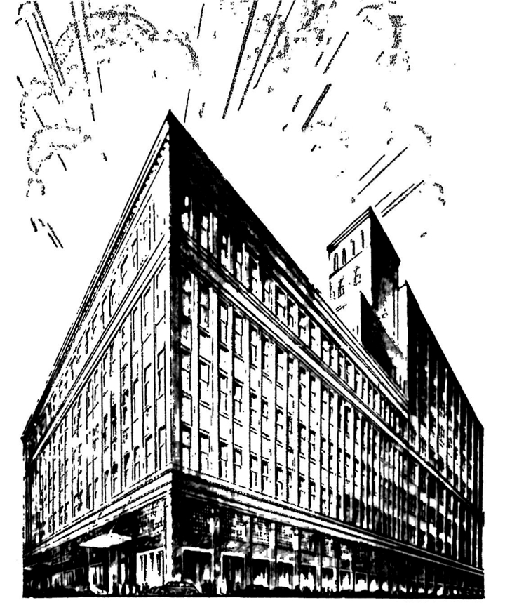 postwar optimism was expressed in this rendition of the store from the 1940s