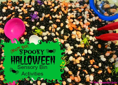A {Not So} Spooky Halloween Sensory Bin | Where Imagination Grows