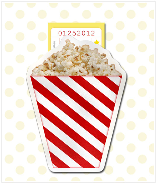Paper and Party Love Movie Party Invitation – Cinema Party Invitations
