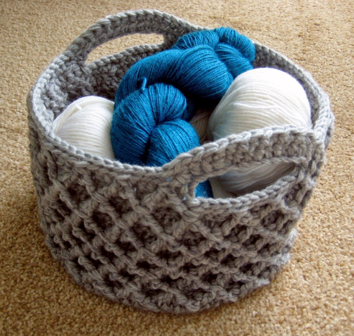Crocheting Baskets : Crochet For Free: Crochet Basket